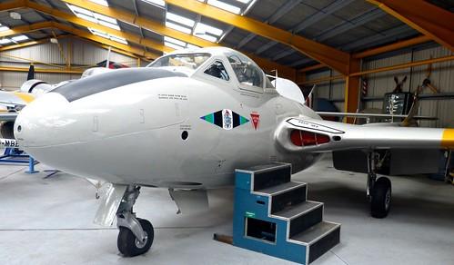XD593 'Royal Air Force' De Havilland Vampire T.11 on 'Dennis Basford's railsroadsrunways.blogspot.co.uk'