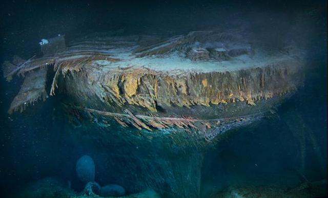 Titanic's stern