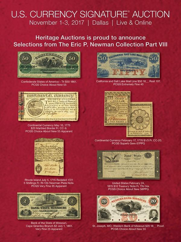 Heritage E-Sylum ad 2017-09-03 Newman VIII-1