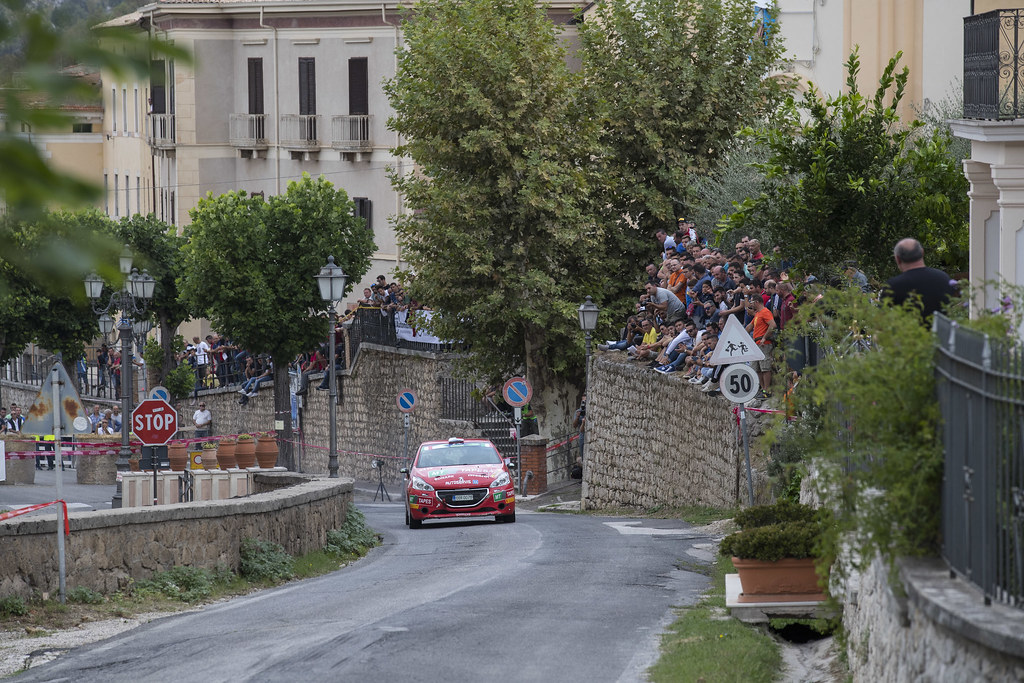 30  KUPEC Radomir (CZE) GLOSSL Petr (CZE) Peugeot 208 R2 action during the 2017 European Rally Championship ERC Rally di Roma Capitale,  from september 15 to 17 , at Fiuggi, Italia - Photo Gregory Lenormand / DPPI