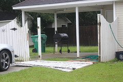 Valdosta Section Of Fence 2 Blown Over During Hurricane Irma Georgia
