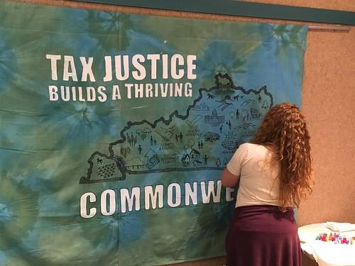 Sarah Tax Justice Banner