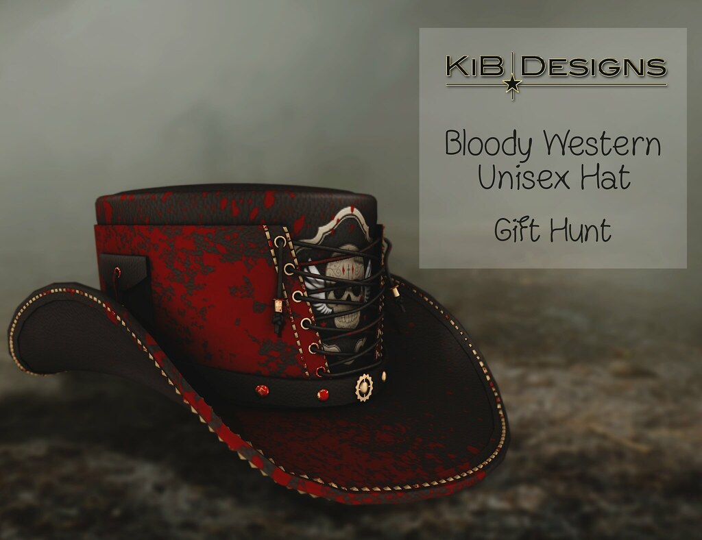 KiB Designs – Bloody Western Hat – Ironwood Hills Halloween Hunt