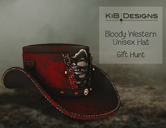 KiB Designs - Bloody Western Hat - Ironwood Hills Halloween Hunt