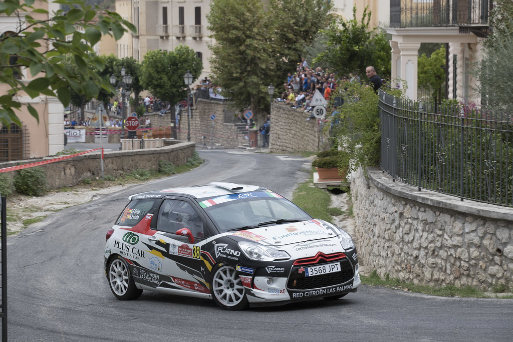 38  FALCON Emma (ESP) PENATE Rogelio (ESP) Citroen DS3 R3T action during the 2017 European Rally Championship ERC Rally di Roma Capitale,  from september 15 to 17 , at Fiuggi, Italia - Photo Gregory Lenormand / DPPI