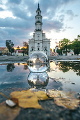 Autumn Sunset | Kaunas Town Hall | #GlassBallProject