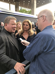 William Shatner being interviewed at the Star Trek Discovery Premiere - IMG_0061