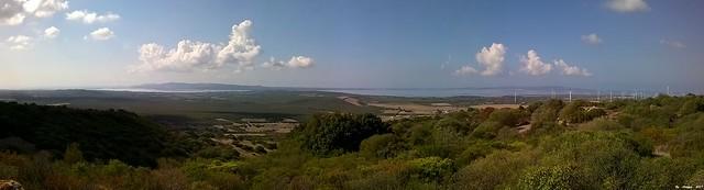 Carbonia 28/09/2017:Overview of Monte Sirai and in the background the islands of Sant'Antioco (left) and San Pietro (right)  /   Panoramica da Monte Sirai e nello sfondo le isole di Sant'Antioco (a dinistra) e San Pietro (a destra)