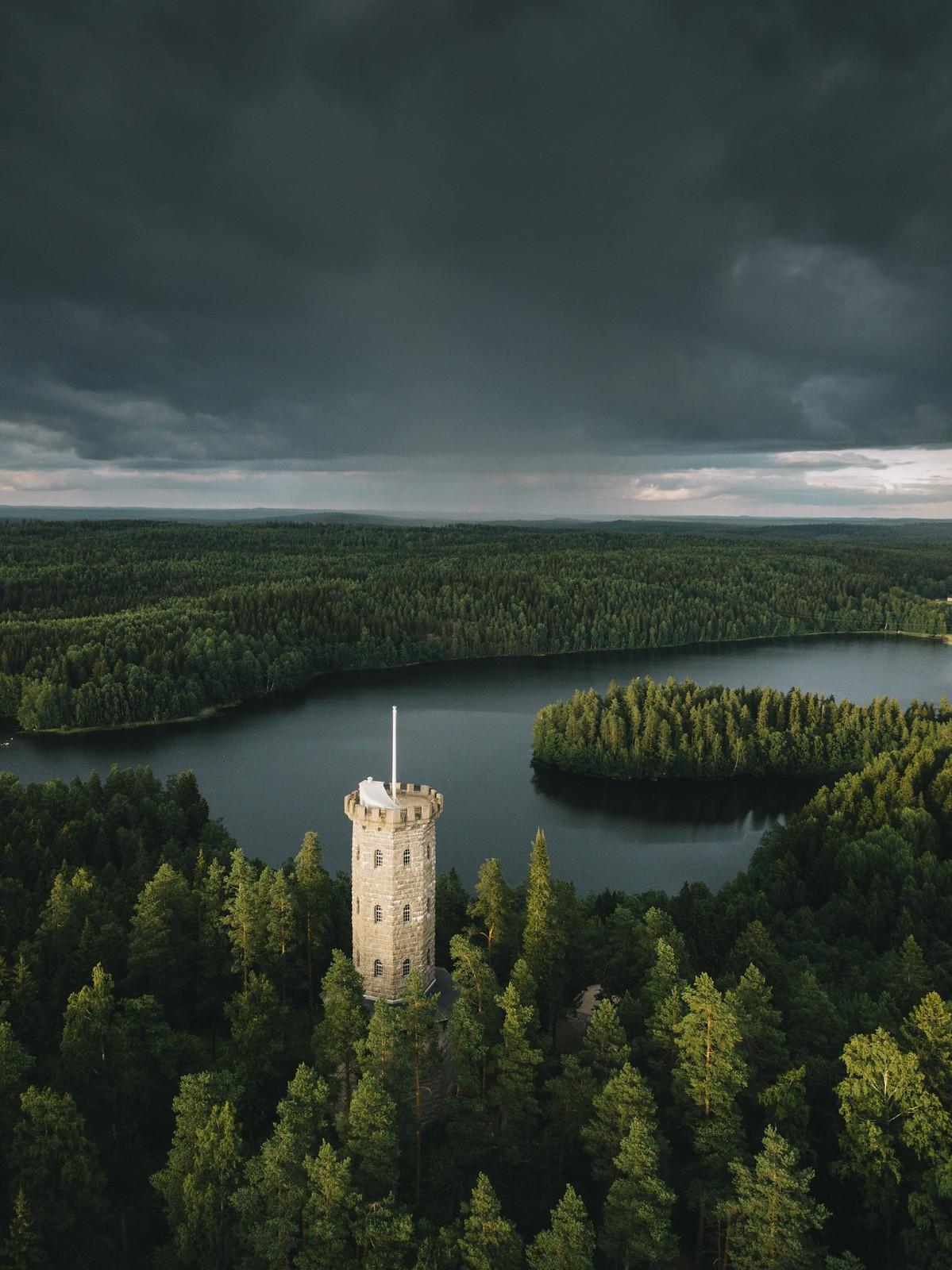 Aulangon näkötorni Sibeliuksen metsä