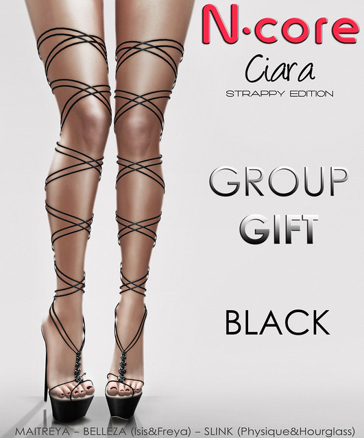 "N-core CIARA ""Strappy Edition"" (Black) GROUP GIFT!"