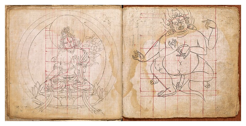 009-Tibetan pattern book of proportions- Getty Digital Collections
