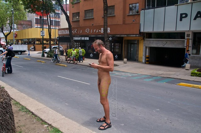 naturist 0047 WNBR World Naked Bike Ride, Mexico