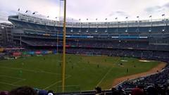 football match at yankee stadium