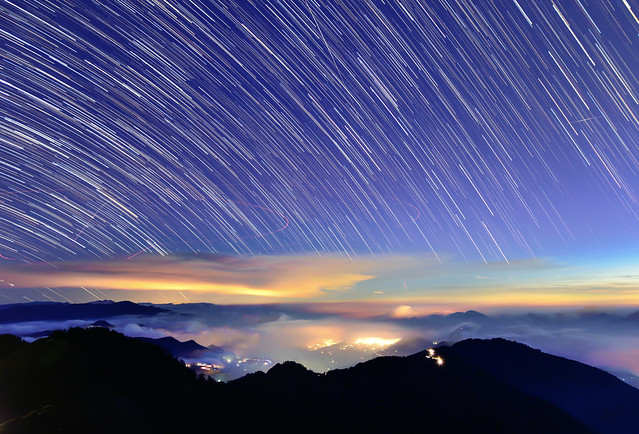 Star trails, Mountain Hehuan 合歡山星軌