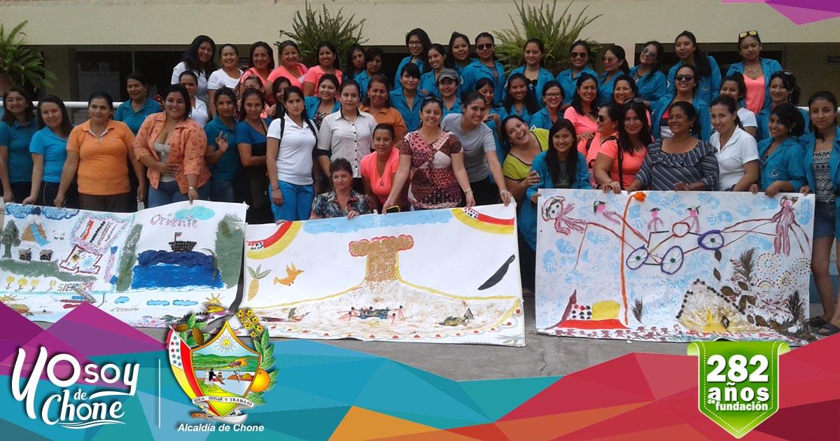 En Chone delegación de la ESPE realizó talleres de creatividad en instituciones educativas
