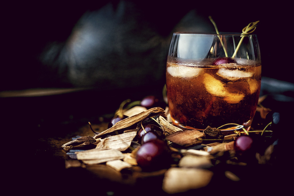 Smoked Cherry Old Fashioned Cocktail Photo credit kita Roberts (2 of 7)