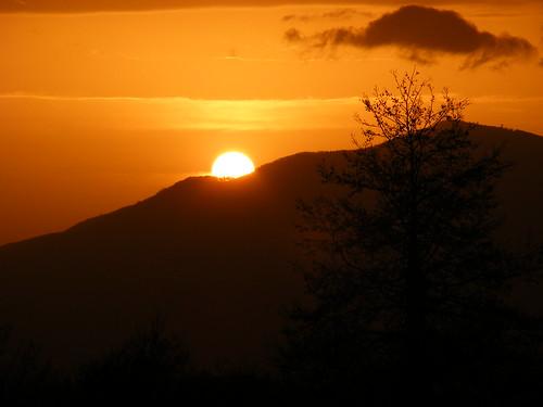 Tramonto dietro il Monte Stella (Sa) _ 2009