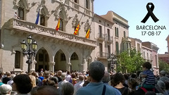 Terrassa: 5 minutes' silence for the victims of the Barcelona attacks . 12_04_56