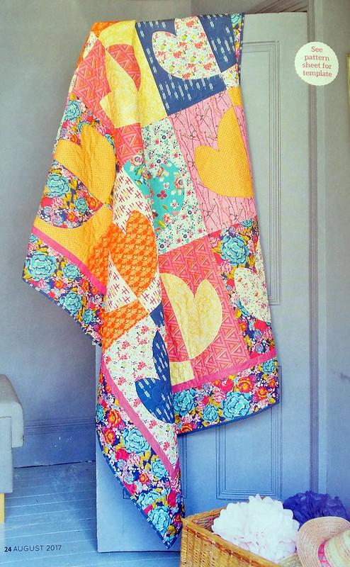 Lotus Flower Quilt (Popular Patchwork Aug17)