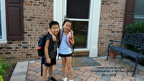 Anna and Will First Day of Second Grade and Kindergarten 2017-2018