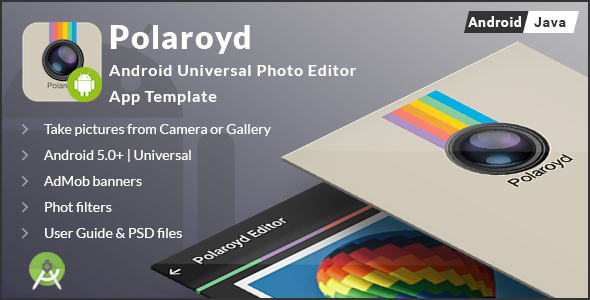 Polaroyd – Android Universal Photo App Template