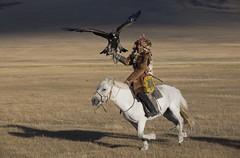 eagle  hunter riding horse
