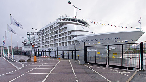 The cruise ship Seven Seas Navigator in Frihamnen port in Stockholm