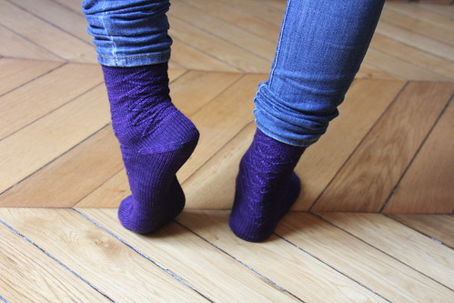 My new purple socks
