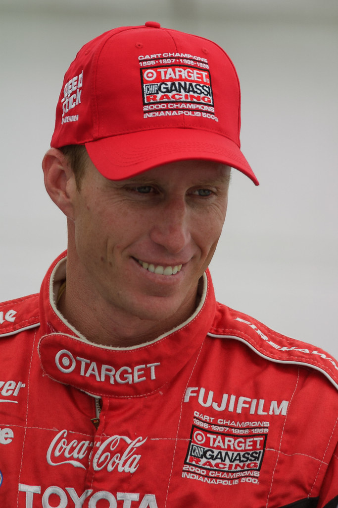 Memo Gidley of Chip Ganassi Racing gives an interview on the weekend of the 2001 CART race at Portland International Raceway