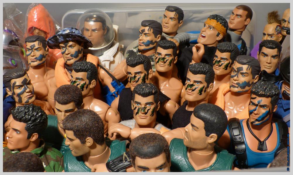 A Few of My Camo Faced Action Man Figures.. 36461182642_76aef208fb_o