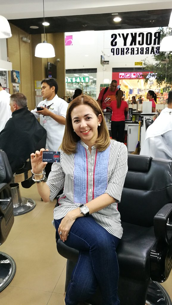 Kay Gempesaw Rockys Barbershop SM Davao Marketing Manager | argan oil hair spa and foot spa for both men and women IMG_20170809_115251