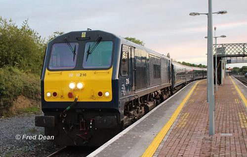 Irish Rail 216 in Charleville.