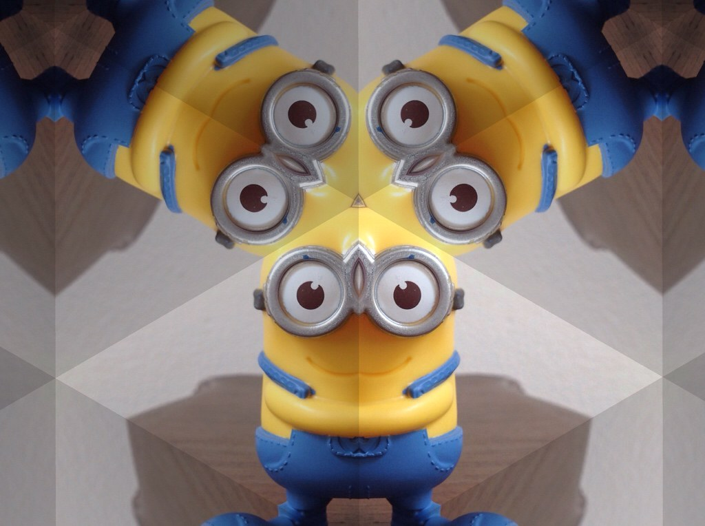 Minion through a kaleidoscope.