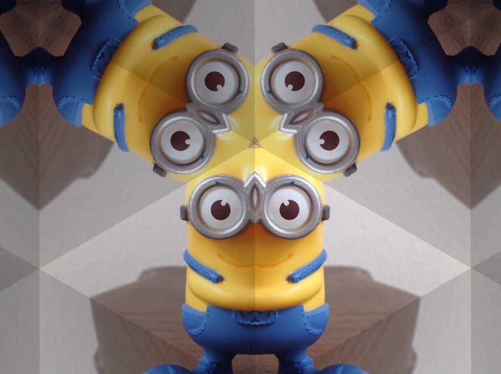 Minion through a kaleidoscope.