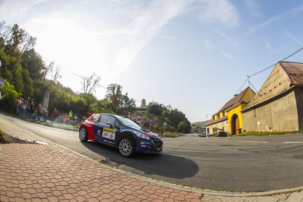 17 SUAREZ Jose Antonio (ESP) CARRERA ESTEVEZ Candido (ESP) Peugeot 208 T 16 action during the 2017 European Rally Championship ERC Barum rally,  from August 25 to 27, at Zlin, Czech Republic - Photo Gregory Lenormand / DPPI