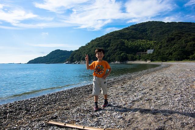 徳島ユースホステル前の海