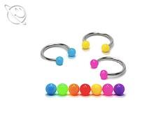 Colourful Acrylic Ball Horseshoe Barbell