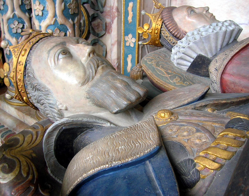 Tomb of Robert Dudley, Earl of Leicester and his wife, Lettice Knollys, Countess of Leicester. Credit Tony Grist