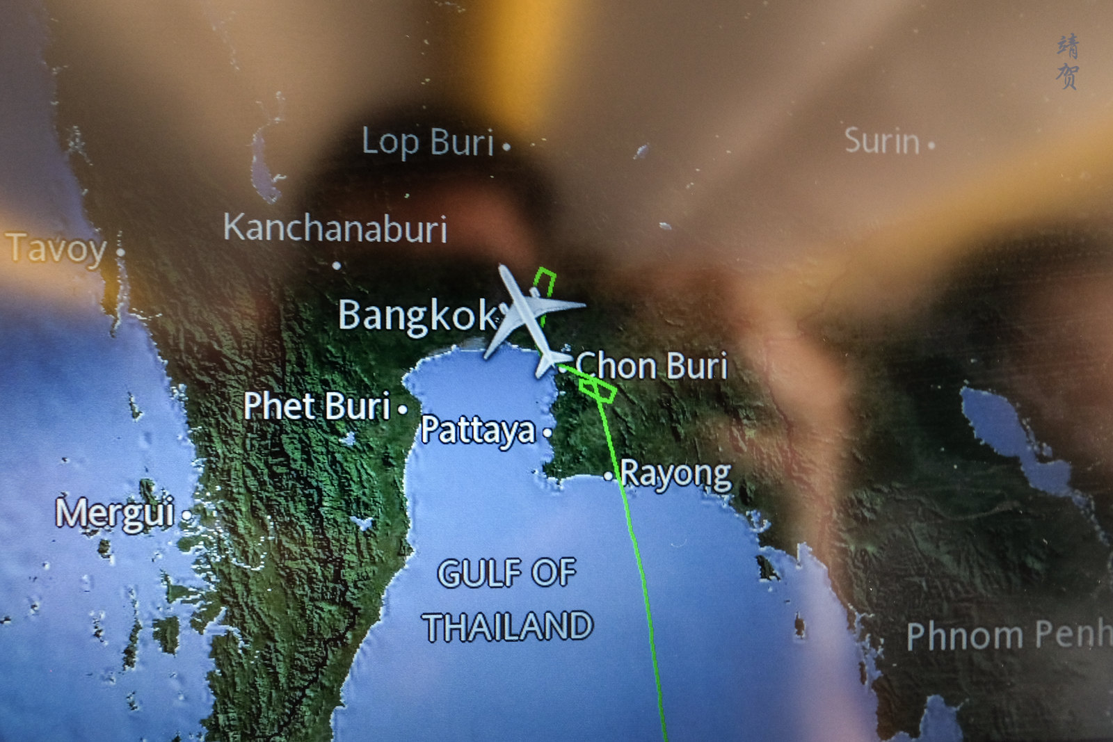 Approach into Bangkok