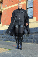 Long Coat and Tall Boots