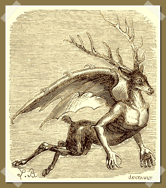 Furfur as depicted in Collin de Plancy's Dictionnaire Infernal, 1863 edition.