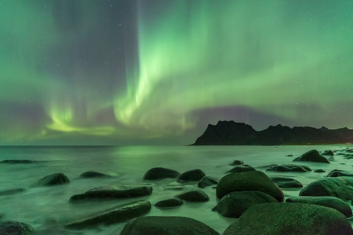 'Nocturnal Waves' - Uttakleiv, Lofoten, Norway