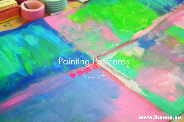 Making Postcards from Scratch – Part 2: Painting a Mixed Media Background