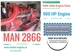 MAN 2866 used engine, MAN 2866 generator, MAN engine spare parts, used, recondition, rebuilt, supplier, seller, MAN main, ship engine parts