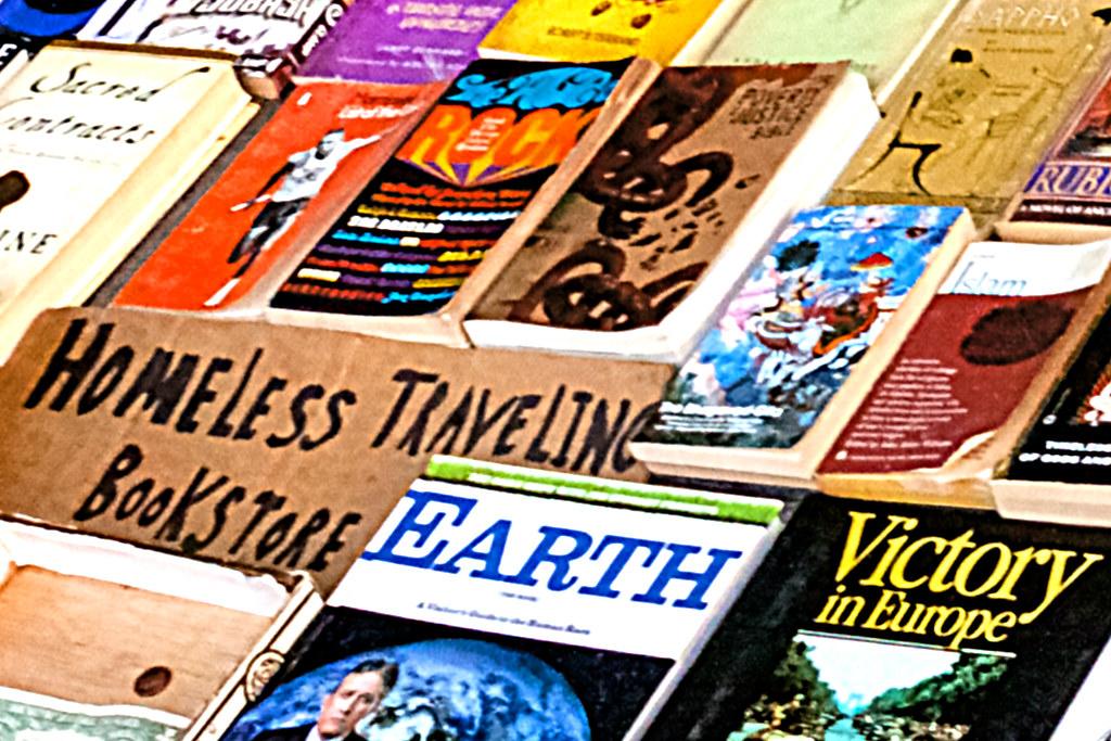 Homeless bookseller--South Street (detail 3)