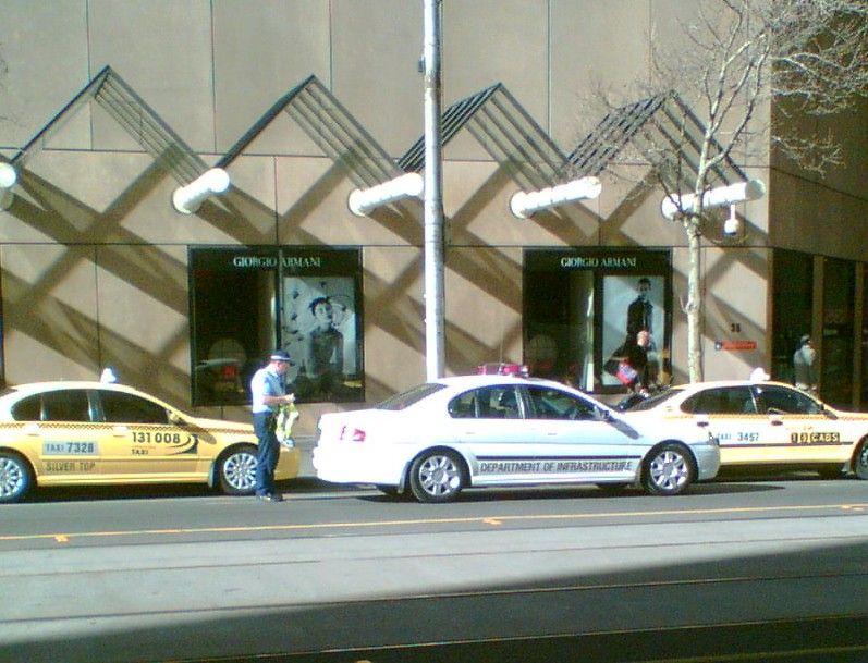 Department of Infrastructure inspecting taxis, September 2007