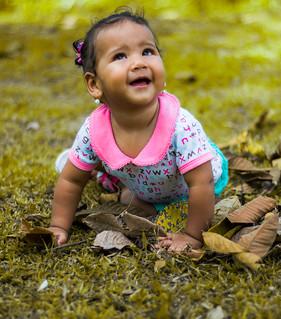 Alana en sus 9 meses.