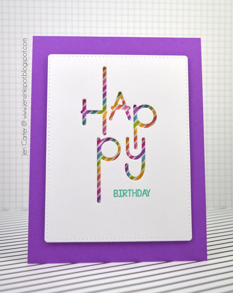 Jen Carter Modern Happy Birthday 2