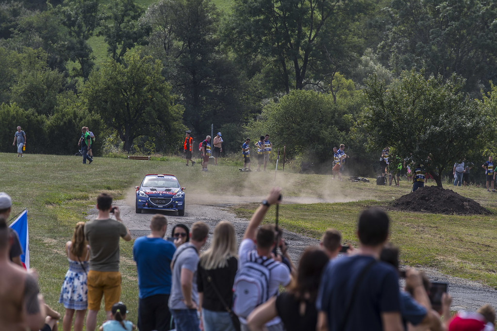 10 LOPEZ Jose Maria (ESP) ROZADA Borja (ESP) Peugeot 208 T 16 action during the 2017 European Rally Championship ERC Barum rally,  from August 25 to 27, at Zlin, Czech Republic - Photo Gregory Lenormand / DPPI