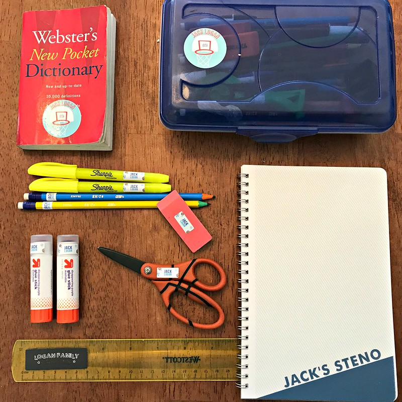 notebook and stickers